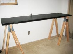 Saw Horse Desk How To Make A Chalkboard Table