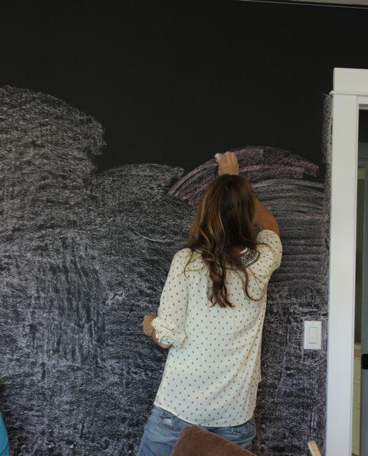 make your own chalkboard wall 6 steps. Black Bedroom Furniture Sets. Home Design Ideas