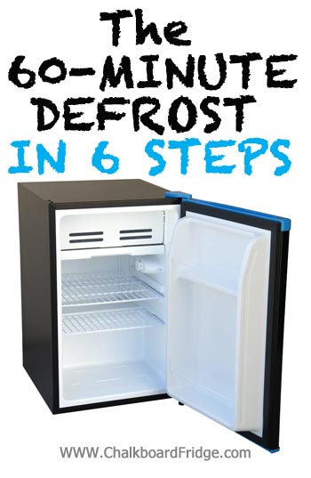 How to Defrost a Mini Fridge in 60 Minutes