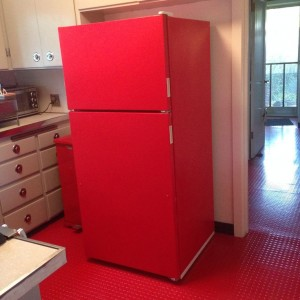 Red Fridge - DIY Paint!