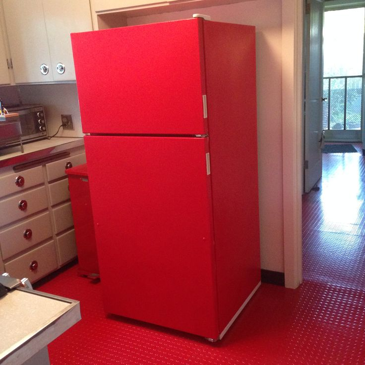Red Refrigerator: This DIY Project Will Save You $100's