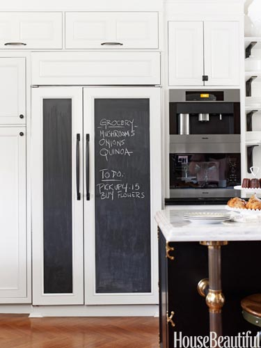 diy chalkboard refrigerator panels made easy