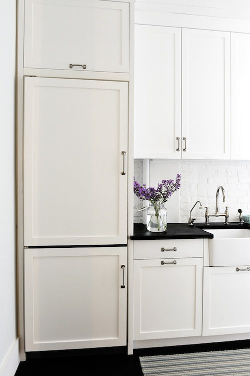 White Refrigerator Door Panels