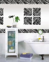 Vinyl Zebra Decals on Wall
