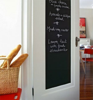Chalkboard Painted Door (with a Peel-and-Sick Decal!)