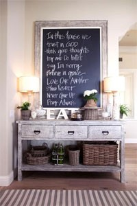 Chalkboard Entry Art