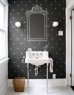 Chalkboard Wall in Bathroom
