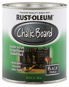Can of Rusto-oleum Black Chalkboard Paint