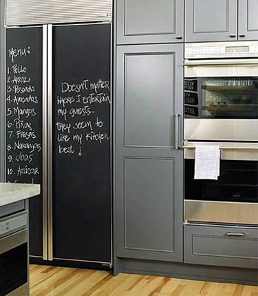 How to Make a Chalkboard Fridge with Paint