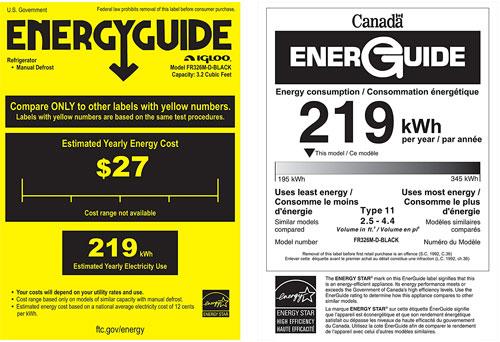 Chalkboard Fridge Energy Annual Cost
