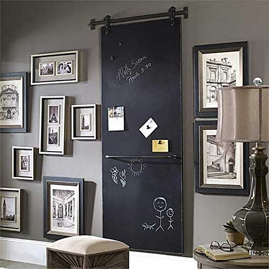 How to Install & Use a Barn Door Chalkboard...